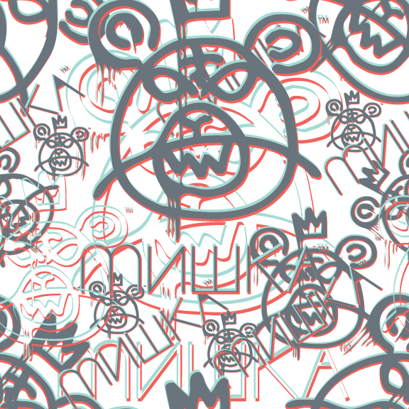 Mishka-Stereoscopic-Seamless-Pattern